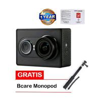 Jual Xiaomi Yi Action Cam 16 MP International Hitam Bcare Monopod Murah
