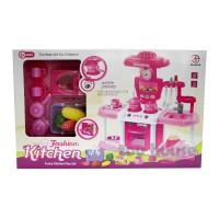Jual Mainan Anak Fashion Kitchen Set Pink Besar - Mainan Masak-Masakan Murah