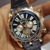 Jual  jam tangan Roger Dubuiis riw Excalibur Black Gold Tourbillon Murah