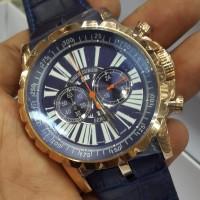 Jual  Jam Tangan Roger DubuIis RIW Excalibur Gold Blue Murah