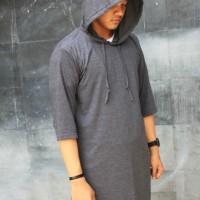 Gamis Kaos Pria | Kurta | Pakistan Model Hoodie Abu Misty Tua