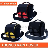 Tas Kamera Canon Selempang Kotak Gratis Jas Hujan (Rain Cover) Kode K