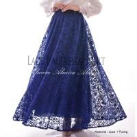 Jual Rok Panjang Muslimah Murah Lace Umbrella Skirt / Rok Payung Brokat Murah