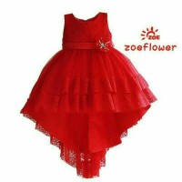 Jual Dress tutu panjang zoe red Murah