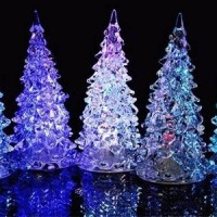 Jual Christmas Lamp Lampu Natal Acrylic Pohon Natal Christmas Tree Murah