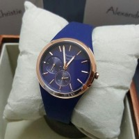 Jam Tangan Wanita Alexandre Christie AC2663 Dark Blue Original