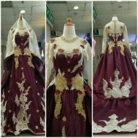 PROMO READY gaun kebaya pengantin non payet 3 dimensi kebaya muslim