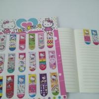 Pembatas Buku magnet / Bookmark magnet motif Hello Kitty