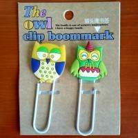 Jual Clip Bookmark / Pembatas Buku Lucu, Unik & Keren - OWL Murah