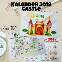 Kalender 2018 / Kalender Meja / Castle / Libur Nasional Indonesia