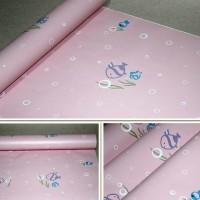 272 wallpaper stiker uk 45cmx10m, ikan pink