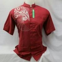 Baju koko Fashion pria lengan pendek motif bordir