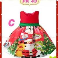 Jual Dress natal christmas anak RD738 santa Murah