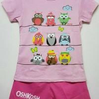 Jual Setelan karakter anak oshkosh motif owl pink Murah