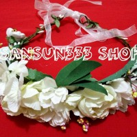Jual Aksesoris Rambut Mahkota Aneka Bunga /Tiara Multi Flower Crown Premium Murah