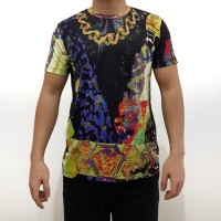Jual t-shirt kaos branded versace barocco full print Murah