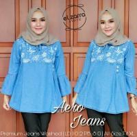 baju wanita blouse aero jeans muslim remaja trendi unik lucu cantik