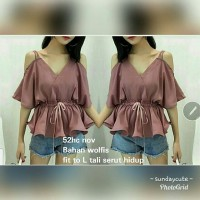 Jual blouse sabrina nov 52 good quality Murah