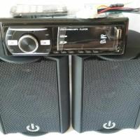 Jual Paket Murah!! Tape Mobil USB/MMC/MP3/FM&Speaker Crimson CR402/4