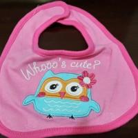 Jual Bib Whoo's Cute? Owl Pink Murah