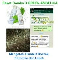 Paket AMPUH Shampo dan Serum Anti Ketombe dan Rontok Combo 3 Green Ang