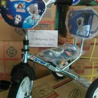 Jual sepeda roda tiga anak alfrex sandaran chrome stainlis Murah