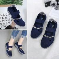 NeW ARRIVAL Sepatu KELSEY RL011 6v Flat Shoes Bahan Rajut Elastis