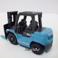 SALE Diecast Miniatur Replika Forklift Biru