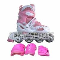 Jual sepatu roda inline skate bajaj 6032 free dekker -PINK- Limited Murah