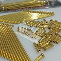 Jari Jari Gold Jeruji Kuning Emas untuk Semua Motor Ring 14 16 17 18