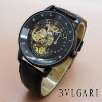 Jual B1 Bvlgari Skeleton Full Black Leather KODE DG1 Murah