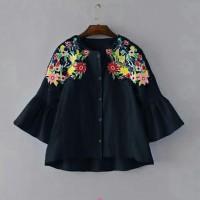 Jual Batwing sun bordir/blouse jumbo/macam macam blouse terbaru/promo/LL Murah