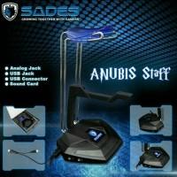 HEADPHONE STAND SADES USB 3.0 + AMPLIFIER / HANGER / CRADLE