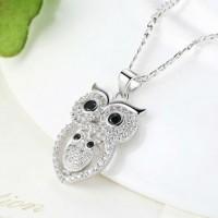 Jual Kalung Wanita Vintage Owl Silver Murah