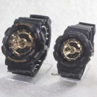Jam Tangan Pria / Wanita / Couple Gshock BabyG GA110 Black - Gold