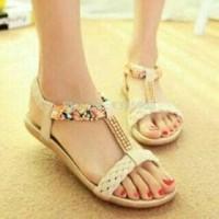 Jual grosir sepatu wanita murah online KEPANG CREAM Murah