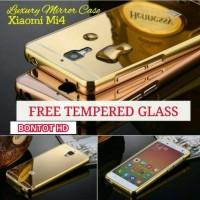 Jual FREE TEMPERED GLASS ALUMUNIUM BUMPER CASING METAL LUXURY CASE MIRROR Murah