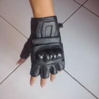Jual MCN7 Sarung Tangan Kulit Batok Motor Kulit Domba Asli Glove Half Prot Murah