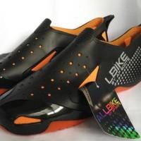 Jual Promo Sepatu Allbike Hitam Orange Sepatu Boots Biker Sepeda All Bike Murah