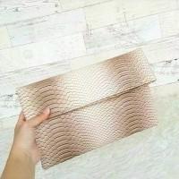 Jual Zara Clutch Snake Skin / Tas Pesta / Dompet Wanita Murah
