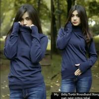 Jual TERBARU atasan sweater rajut wanita selly turtleneck roundhand murah Murah