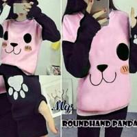 Jual Sweater wanita murah Sweater Roundhand Panda Pink MTF Murah