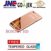 Jual FREE TEMPERED GLASS SCREEN Aluminium Bumper Metal Casing MIRROR Back Murah