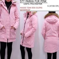 jaket parka wanita (hoodie bulu) merek STYLES (bisa u/ ke luar negeri)