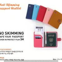 Jual Anti Skimming Passport Wallet Dompet passport banyak sekat Murah
