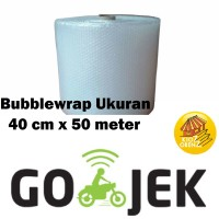 Jual BUBBLEWRAP uk. 40 Cm x 50 Meter PLASTIK BUBBLE WRAP MURAH GROSIR BUBLE Murah