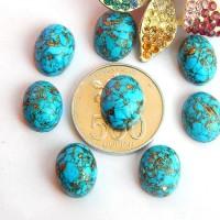 P6750 Batu Pirus Serat Emas / Natural Turquoise