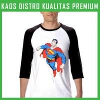 Jual Kaos Raglan Superman Terbang 16 RGL-AFN05 Murah