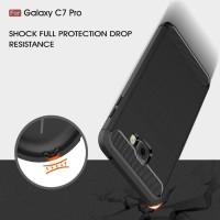 Samsung C7 C9 PRO spigen like cover softcase carbon hp case FIBER LINE