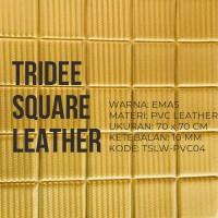 Jual Wallpaper Foam 3D Motif kotak Emas | Gold Square | TRIDEE SQUARE Murah